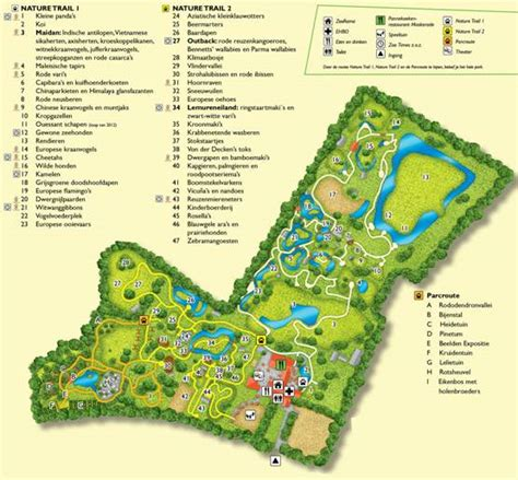 Plattegrond Zoo Parc Overloon - Rides