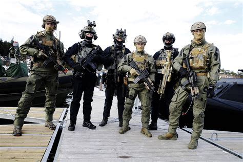 Three special forces from Norwegian Naval Special