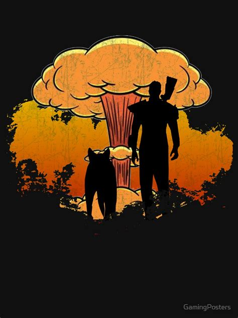 """""""Fallout 4 - Lone Wanderer and Dogmeat Nuke (Vintage)"""" T"""