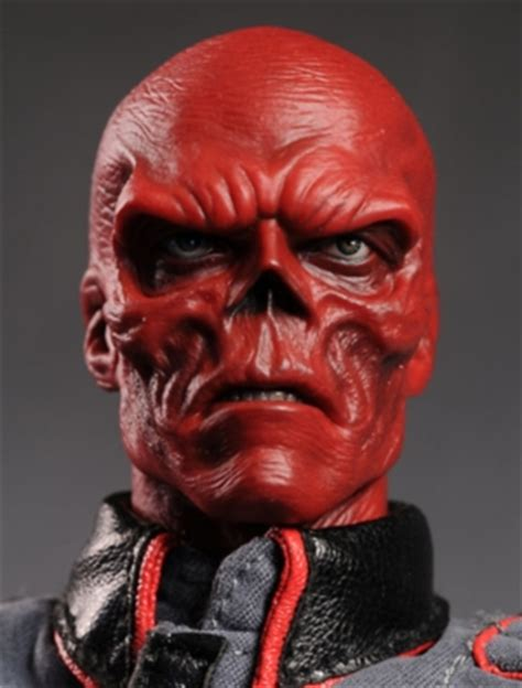 Review and photos of Red Skull sixth scale action figure