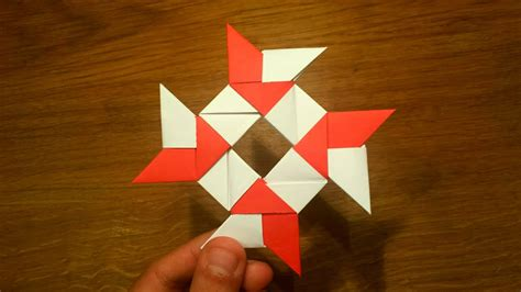 How To Make a Paper 8-pointed Ninja Star - Origami