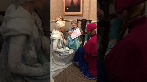 Frozen Elsa & Anna meet and greet wish to a 4 year old