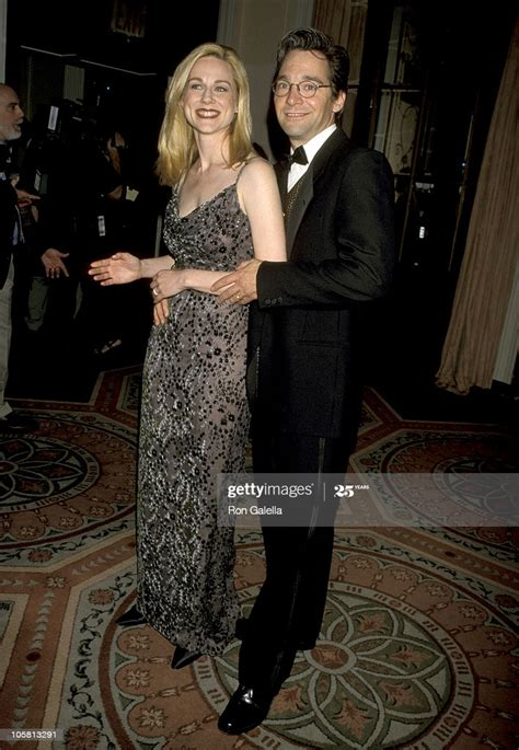 Laura Linney and David Adkins during The IRTS Gold Medal