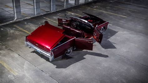 Lincoln Continental Convertible 1965 Burgundy For Sale