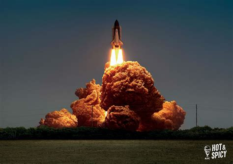 KFC Fried Chicken Photoshopped as Explosions is Strangely