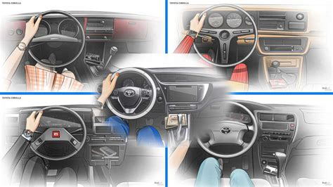 Check Out The Corolla Interior's Evolution Across All 11