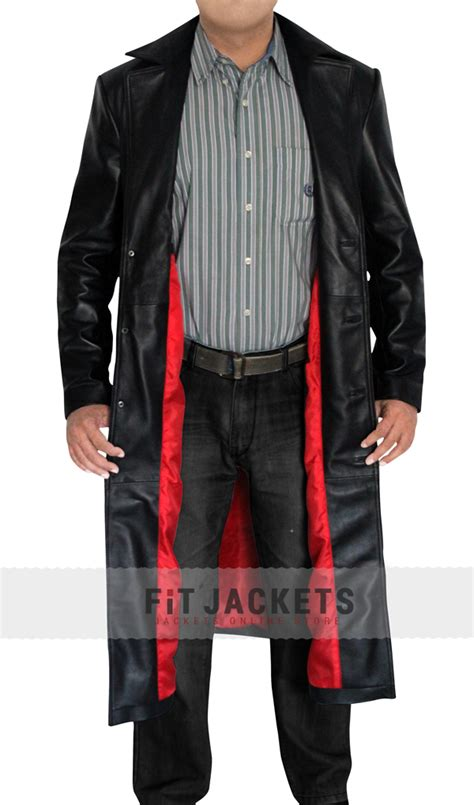Blade Coat | Wesley Snipes Leather Trench Coat