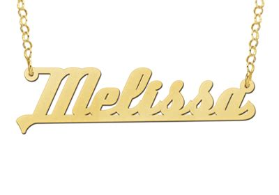 Gold Plated Name Necklace Model Melissa