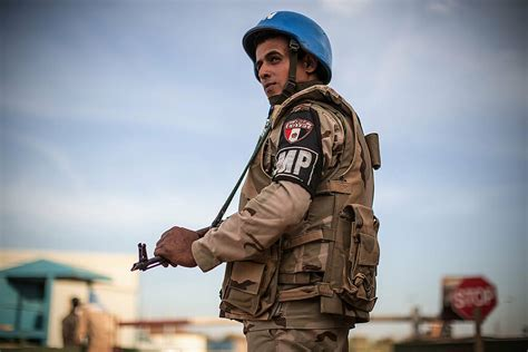 The contingent of the Egyptian military police | A