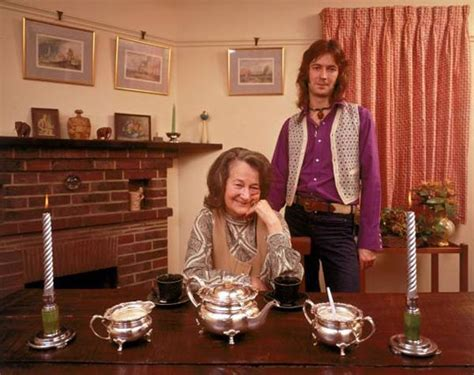 70's photographs: Rock stars at their Parents Houses