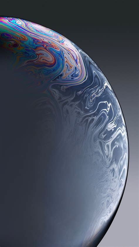 iPhone XR Grey Bubble Stock Wallpapers | HD Wallpapers
