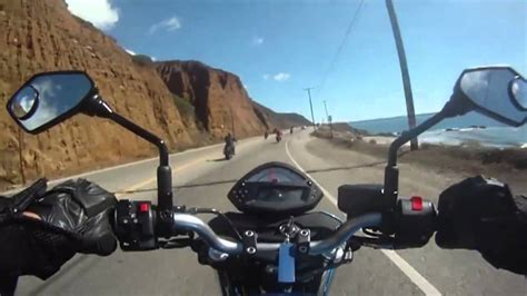 GOPRO HERO - Riding a Motorcycle on Pacific Coast Highway