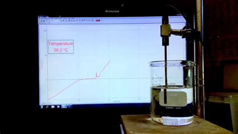 Time lapse heating curve of ice below its freezing point